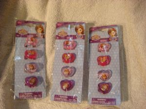 Disney  Sofia the First girls rings in packs of 3